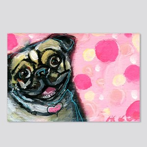 Pug Love Postcards (Package of 8)