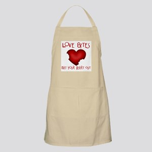 Love Bites Eat Heart Out BBQ Apron