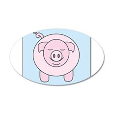 Pink Pig Wall Decal