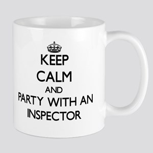 Keep Calm and Party With an Inspector Mugs