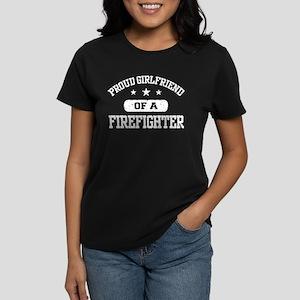 Proud Girlfriend of a Firefighter Women's Dark T-S