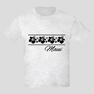 B & W Maui Hibiscus Kids Light T-Shirt