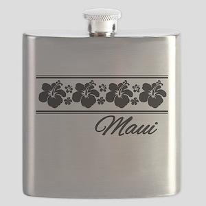 B & W Maui Hibiscus Flask