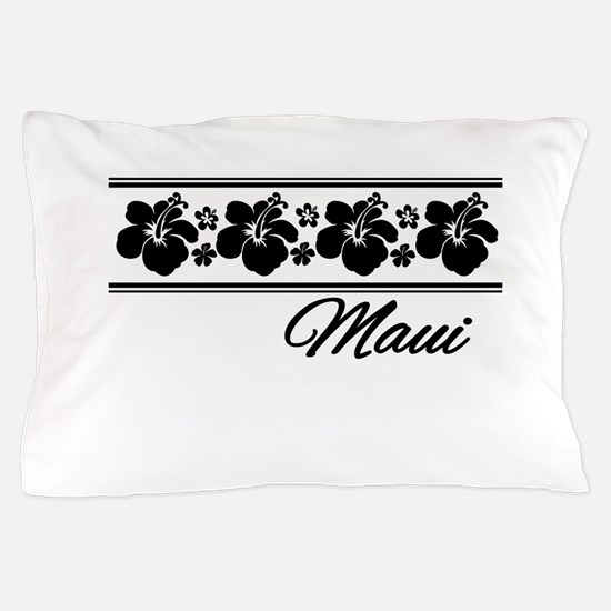 B & W Maui Hibiscus Pillow Case