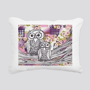 Chinese Paper Owls 13 Rectangular Canvas Pillow