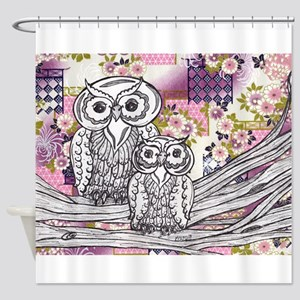 Chinese Paper Owls 13 Shower Curtain