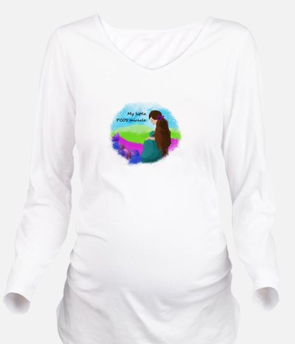 My Little PCOS Miracle Long Sleeve Maternity T-Shi