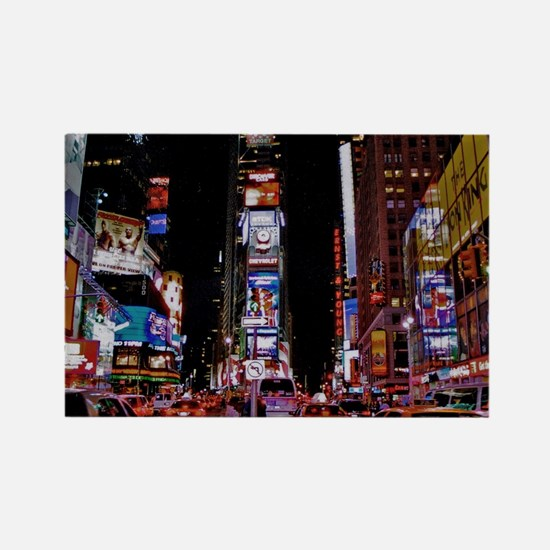 Time Square Rectangle Magnet