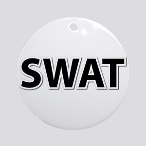 SWAT - Black Ornament (Round)