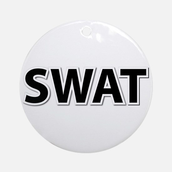 SWAT - Black Ornament (Round)