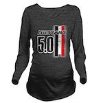 mustang5.0BWR Long Sleeve Maternity T-Shirt
