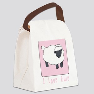 I Love Ewe Canvas Lunch Bag