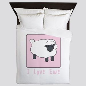 I Love Ewe Queen Duvet