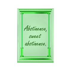 Green Abstinence Rectangle Magnet