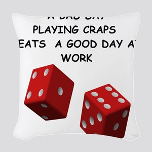 CRAPS2 Woven Throw Pillow