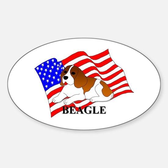 Beagle USA Sticker (Oval)