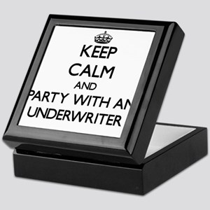 Keep Calm and Party With an Underwriter Keepsake B