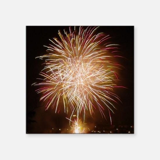 "Firework011 Square Sticker 3"" x 3"""
