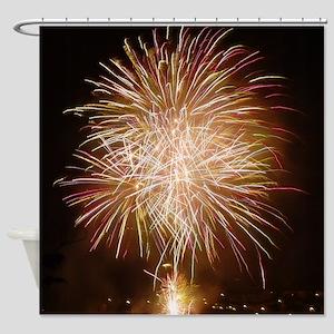 Firework011 Shower Curtain