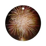 Fireworks Round Ornaments