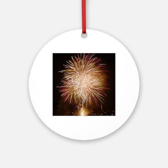 Firework011 Round Ornament