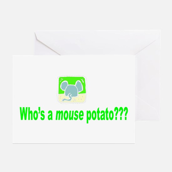 Mouse Potato Greeting Cards (Pk of 10)