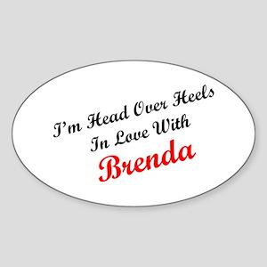 In Love with Brenda Oval Sticker