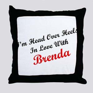 In Love with Brenda Throw Pillow