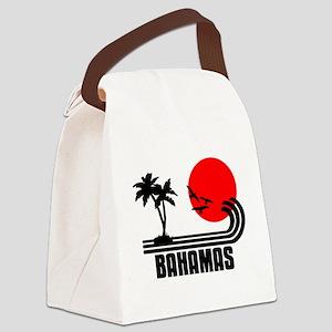 Bahamas, Sonne Palmen Strand Retr Canvas Lunch Bag
