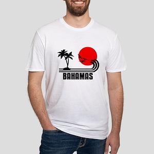 Bahamas, Sonne Palmen Strand Retro  Fitted T-Shirt
