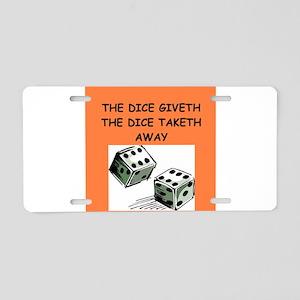 DICE Aluminum License Plate