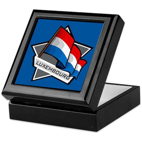 """Luxembourg Star Flag"" Keepsake Box"