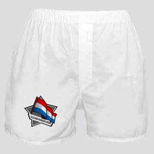 """""""Luxembourg Star Flag"""" Boxer Shorts"""