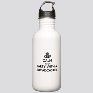 Keep Calm and Party With a Broadcaster Water Bottl