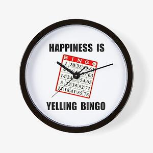 BINGO HAPPY Wall Clock