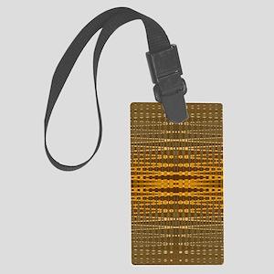 Elegant Gold beaded pattern Large Luggage Tag