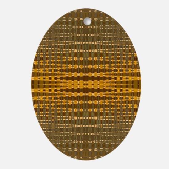 Elegant Gold beaded pattern Oval Ornament