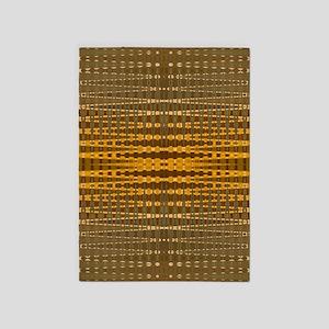 Elegant Gold beaded pattern 5'x7'Area Rug