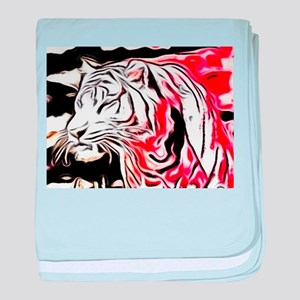 abstract colored tiger baby blanket