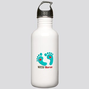 NICU nurse t-shirt blue feet Water Bottle