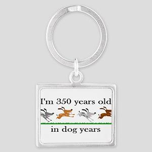 50 dog years birthday 2 Keychains
