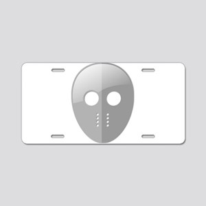 Hockey Mask Aluminum License Plate