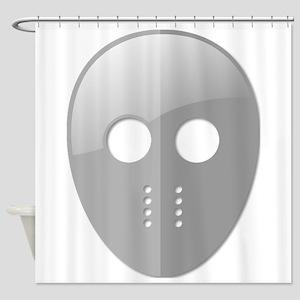 Hockey Mask Shower Curtain
