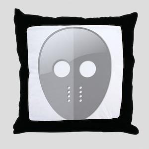 Hockey Mask Throw Pillow