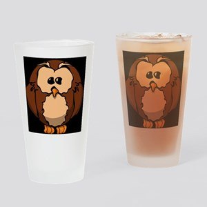 confused owl Drinking Glass