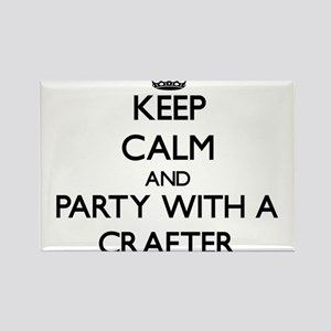 Keep Calm and Party With a Crafter Magnets