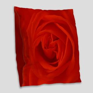 red rose of love Burlap Throw Pillow