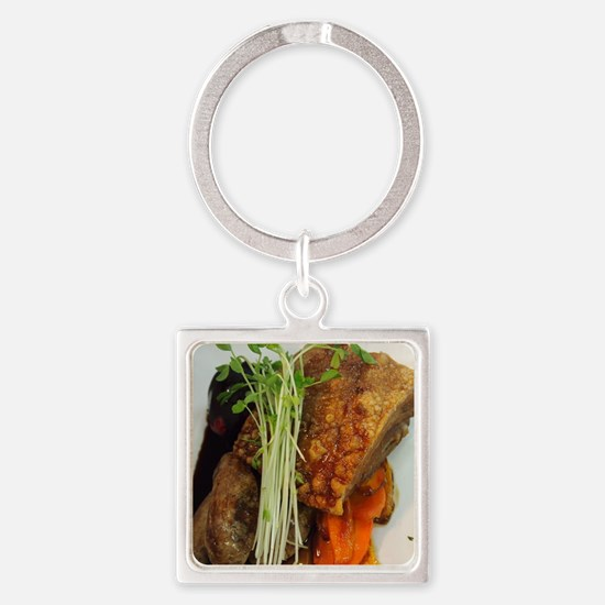 Pork Belly Square Keychain