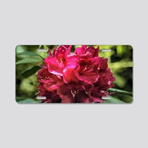 Rhododendron Aluminum License Plate