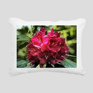Rhododendron Rectangular Canvas Pillow